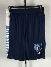 Memphis Grizzlies Adidas Climalite Shorts NBA Blue White Mens Large New NWT