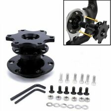 Universal Sport Steering Wheel Quick Release Snap Off Boss Kit Hub Adapter Black