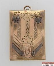 Vintage B. MFG Co Etched Gold Filled Locket 1 1/2 X 1 3/4 Big Rectangle Engraved