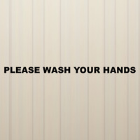 Please Wash Your Hands Decal Vinyl Sticker Mirrow Wall Window Sign Decals