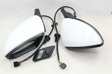 Auto Fold Electric Folding Side Mirror w/ Glasses Cover Switch For VW Golf 7 MK7