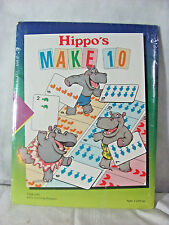 1990 Time-Life Early Learning Program Hippo's Make 10 Math Game for Ages 3 & Up
