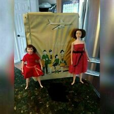Vintage 1963 Remco Littlechap Libby Judy Dolls & Carry Case