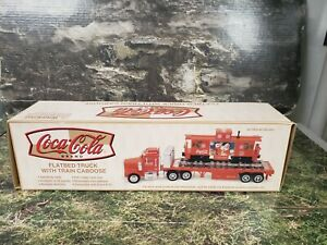 BE Coca Cola Flatbed Truck w Train Caboose  New in box