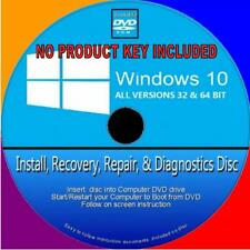 WINDOWS 10 INSTALL RECOVER RESTORE REPAIR FIX DVD HOME & PROFESSIONAL 32/64 Bit