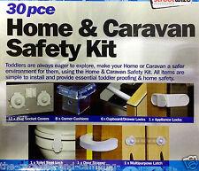 Child Home & Caravan Safety Kit - Socket Covers / Corner Cushions / Door Locks