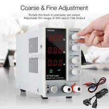 US NPS3010W Minleaf DC Power Supply 0-30V 0-10A Switching Adjust Digital 300W