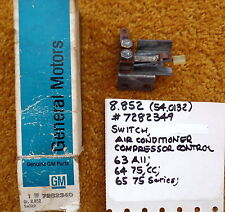 1963-65 Cadillac Air Conditioner Compressor Control Switch NOS 7282349