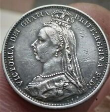 More details for 1887  victoria silver sixpence, very nice detailed coin
