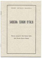 MAMELI SARDEGNA SCRIGNO D'ITALIA SOC CHIMICA ITALIANA IND MINERALI VEGETALI