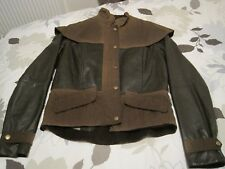 BARBOUR ASHFORD WAX COTTON & LEATHER COAT JACKET UK 8-10 SMALL