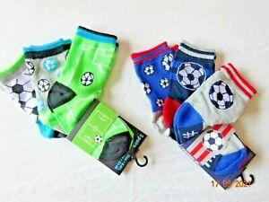 BOY 3 PAIR PACK MIX BALLS CHILDREN ANKLE FOOTBALL SOCKS UK 6-8.5, 9-12, 12-3.5