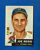 1953 Topps Baseball CARD #74 JOE ROSSI EX/EX-MT PITTSBURGH PIRATES NO CREASE