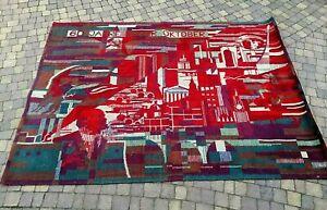 Vintage Wall / Floor Carpet Rug Great Soviet Revolution V. Lenin Propaganda Rare