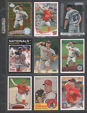 JORDAN ZIMMERMAN ~ Lot of (9) Different Baseball Cards w/ Display Sheet (L547)