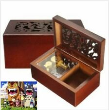 Solid Wood Miniature Hollow Music Box Jewelry Box: My Neighbor Totoro
