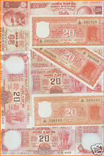 20 Rupees India Compete Signature Set ( E-1 To E-50 ) @ Uncirculated condition