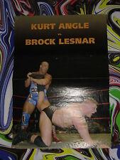 KURT ANGLE vs BROCK LESNAR & EDGE -WRESTLING Doppel Poster 29x42 cm Plakat-W1b