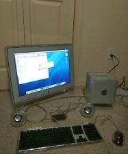 Working Apple Power Mac G4 450Mhz Cube 1.5gb RAM 10.3.9 20gb with cinema display