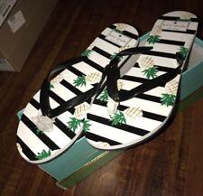 100% Authentic Kate Spade Flamingo Nassau Flip Flops Sandals Sizes 9M Sale!