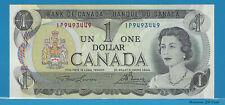1973 Bank Of Canada $1 Dollar  2 Letters Prefix # IP9493449 (Lawson / Bouey) UNC