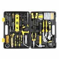 NEW 218pcs Iron Household Tool Set Black,eneral Household Hand Tool Set for home
