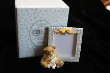 Collectible Figurine in Box - Cherished Teddies Baby w Bunny Picture Frame -Jex