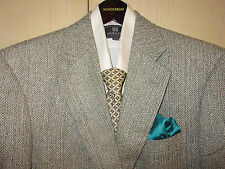 38R 100% Silk RBM Collection Khaki Multi Herringbone Fleck Blazer + Tie