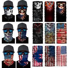 Skull Headwear Neck Gaiter Tube Bandana Scarf Face Mask Shield Washable Reusable