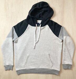 American Eagle Sweatshirt Size Petite Small Gray Colorblock Pullover Hoodie