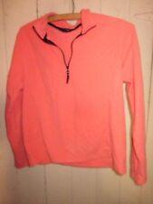 LANDS' END Peach/Sherbet 100% Polyester  Lightweight Fleece Pullover SZ S 6-8