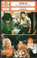 BAYAN KO - Samvador,Alajar,Brocka (Fiche Cinéma) 1984