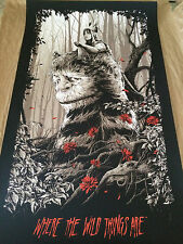 WHERE THE WILD THINGS ARE VARIANT PRINT BY KEN TAYLOR X/150 HAND NUMBERED MONDO