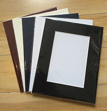 """10 x Professional Picture Framing Mat Boards 12x16"""" with 8x12"""" Window Mount Kits"""