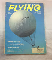 Balloon Over Paris Around the World  1959 Flying Magazine Airplane Aviation
