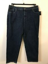 ee425be804cb0 Liz Claiborne Woman Womens Blue 16W Straight Leg Jeans Embroidered Pockets  NWT