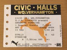 1993 SMASHING PUMPKINS WOLVERHAMPTON U.K. CONCERT TICKET STUB SIAMESE DREAM TOUR