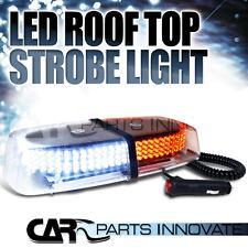 Mini Light Bar Yellow/White 8 Modes Emergency 12 V Flash/Strobe 240 LED Lamp