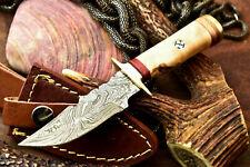 Custom Hand Made Damascus Steel Blade Hunting Knife | Superb Olive Wood
