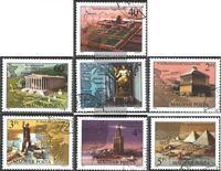 Ungarn 3411A-3417A (kompl.Ausg.) gestempelt 1980 Die sieben Weltwunder