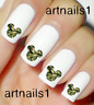 Disney Mickey Mouse Nail Camo Art Water Decals Stickers Manicure Salon Polish