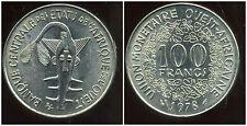 ETATS DE L'AFRIQUE DE L'OUEST  100 francs  1978  SUP ++