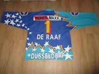 """Düsseldorfer EG starter Eishockey Trikot 96/97 """"EPSON"""" + Nr.1 DE RAAF Gr.XL- XXL"""