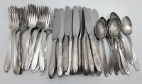 International Silverplate Lot of 40 Pieces UNITED AIRLINES Silverware (RF974)