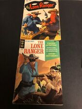 2 VINTAGE THE LONE RANGER COMICS 1-GOLD KEY & 1- DELL! GD CONDITION