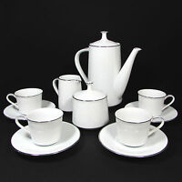 Noritake Reina 13 Piece Demitasse Set Pot 3oz Cup Saucer 6oz Cream & Sugar 8450Q