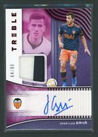 2018-19 JOSE LUIS GAYA 84/99 AUTO JERSEY PATCH PANINI TREBLE AUTOGRAPHS