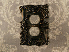 Metal Outlet Plate Cover, Tuscan, Medieval, Ornate Plug Decor, decorative outlet