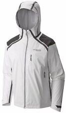 SZ L $400 Men's Columbia Outdry EX Diamond Snow Shell Hooded Rain Jacket White