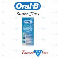 Oral B Super Floss Dental Floss Braces Bridges Wide Spaces 50 Pre-Cut Strands
